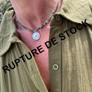 Collier rond nacre