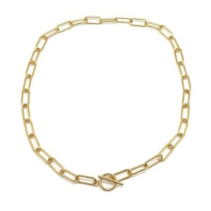 Collier maillons fermoir T CCL1493