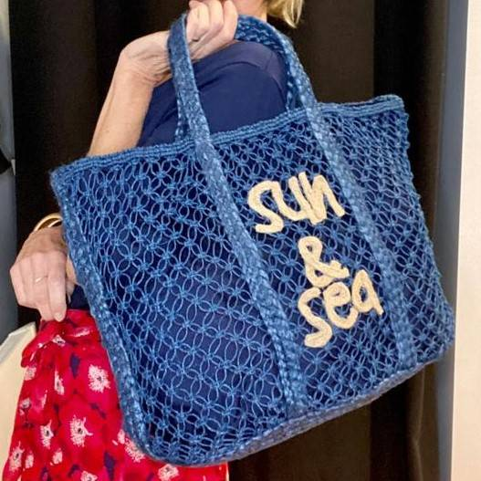Grand sac cabas sea & sun vimoda marine 91308